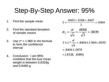 AP Statistics 10.1.2: General Confidence Intervals