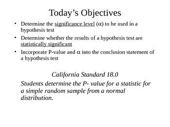 AP Statistics 10.2.2: Statistical Significance and Alpha Level
