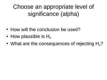 AP Statistics 10.3.1: Choosing Significance Level