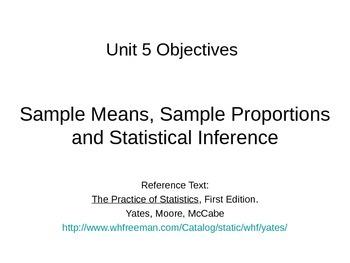 AP Statistics 10.9: Unit 5 Review
