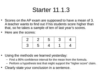 AP Statistics 11.1.3: Matched Pairs t Procedures
