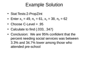 AP Statistics 12.2.1: Two-sample Proportions