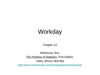 AP Statistics 12.2.2: Workday