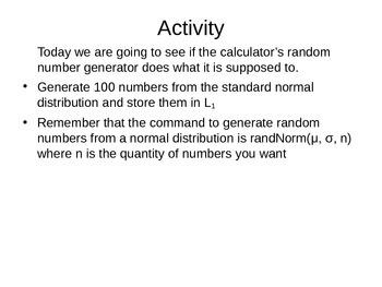 AP Statistics 13.1.3: Simulating a Distribution