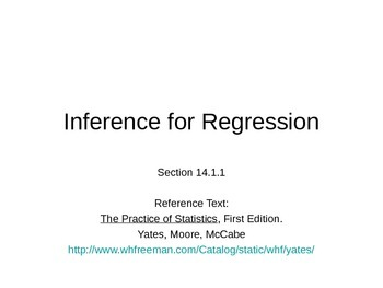 AP Statistics 14.1.1: Inference for Regression