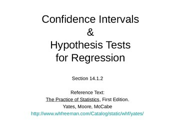 AP Statistics 14.1.2: Confidence Intervals & Hypothesis Tests for Regression