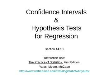 AP Statistics 14.1.2: Confidence Intervals & Hypothesis