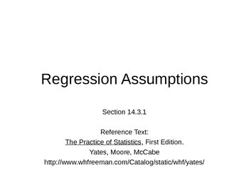 AP Statistics 14.3.1: Regression Assumptions
