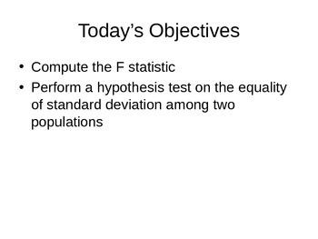 AP Statistics 15.1.1: The F Distributions