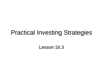 AP Statistics 16.3.0: Practical Investing Strategies