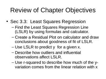 AP Statistics 04.9: Unit 2 Review