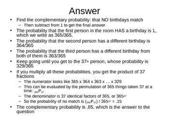 AP Statistics 06.2.3b: Permutation and Combination