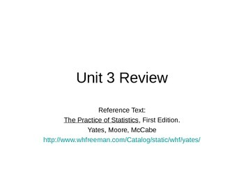 AP Statistics 06.9: Unit 3 Review