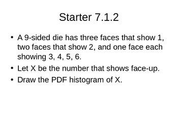 AP Statistics 07.1.2: Continuous Random Variables