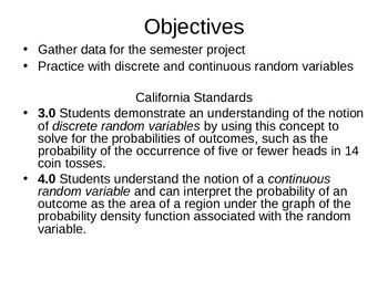 AP Statistics 07.1.3: Random Variables Work Day