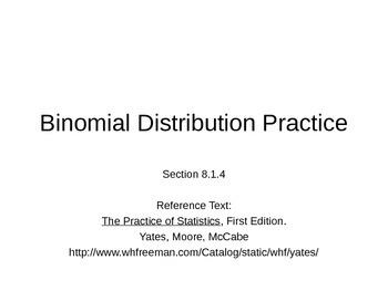 AP Statistics 08.1.4: BinomialDistribution Practice