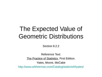 AP Statistics 08.2.2: The Expected Value of Geometric Distributions