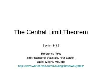 AP Statistics 09.3.2: The Central Limit Theorem