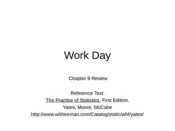 AP Statistics 09.3.3: Chapter 9 Review