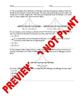 AP Statistics Assessment: The Normal Distribution