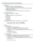 AP Statistics Calculator Reminders