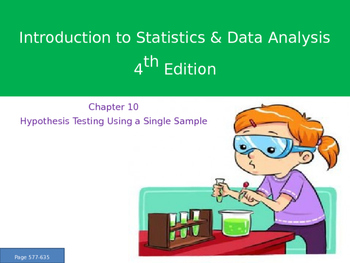 AP Statistics Chapter 10 - Hypothesis Testing Using a Single Sample