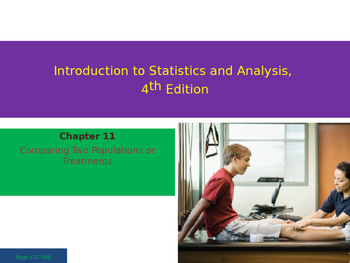 AP Statistics Chapter 11 - Comparing Two Populations or Treatments