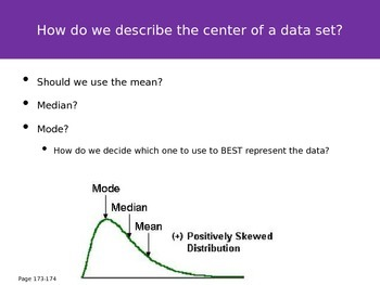 AP Statistics Chapter 4 - Numerical Methods for Describing Data