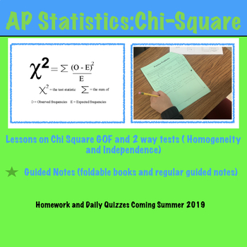 AP Statistics - Chi-Square Bundle (Growing Bundle)