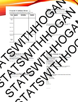 AP Statistics-Confidence Interval Homework Bundle
