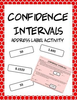 AP Statistics Confidence Intervals Address Label Activity