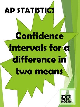 AP Statistics-Confidence Intervals for a difference in two means