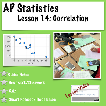 AP Statistics. Correlation (with video of lesson)