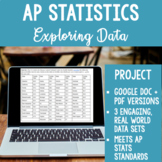 AP Statistics Data Displays Project Histogram, Scatterplot, and More