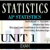AP Statistics Exam EDITABLE Unit 1