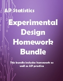 AP-Statistics Experimental Design Homework Bundle