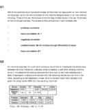 AP Statistics - Exploring Data Homework / Quiz