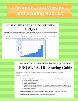 AP Statistics Free Response Questions Bundle #1