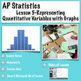 AP Statistics. Lesson 5-Representing Quantitative Data with Graphs (video)