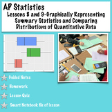 AP Statistics. Lessons 8/9-Graph Summary Statistics and Comparing Distributions