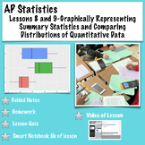 AP Statistics. Lessons 8/9Summary Statistics and Comparing Distributions w/video