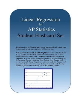AP Statistics Linear Regression Flashcards/Vocabulary Speed Dating