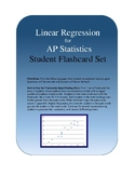 AP Statistics Linear Regression Flashcards/Vocabulary Spee