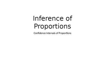 AP Statistics Presentation - Confidence Intervals of Proportions