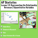 AP Statistics. Representing the Relationship Between Two Quantitative Variables