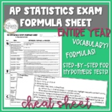 AP Statistics Review - Vocabulary and Formulas for the Entire Year