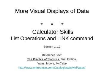 AP Statistics 01.1.2: More Visual Displays of Data