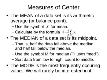 AP Statistics 01.2.1: Measures of Center and Spread