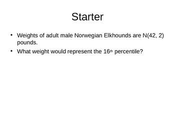 AP Statistics 02.2.1: The Standard Normal Distribution