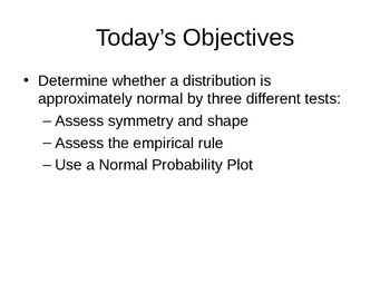AP Statistics 02.2.2: Assessing Normality